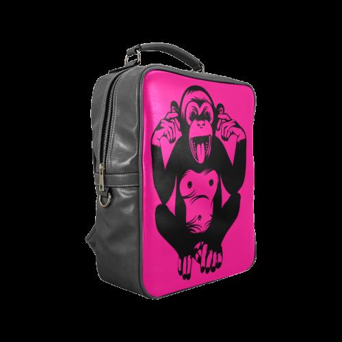 Monkey-Baby Square Backpack (Model 1618)