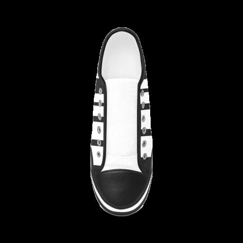 barcode Women's Canvas Zipper Shoes (Model 001)