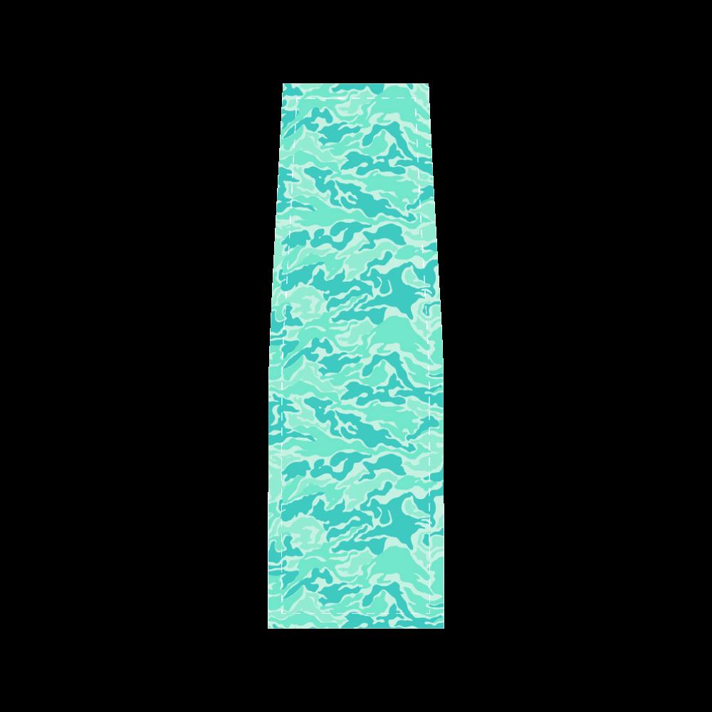 Camo Turquoise Camouflage Pattern Print Saddle Bag/Large (Model 1649)