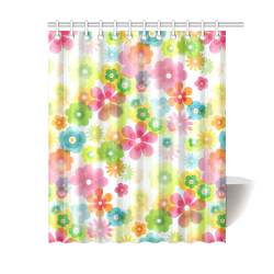 """Flowers In A Dream Shower Curtain 60""""x72"""""""
