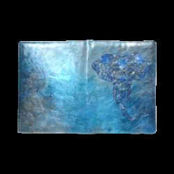 A blue watercolor elephant portrait in denim look Custom NoteBook B5