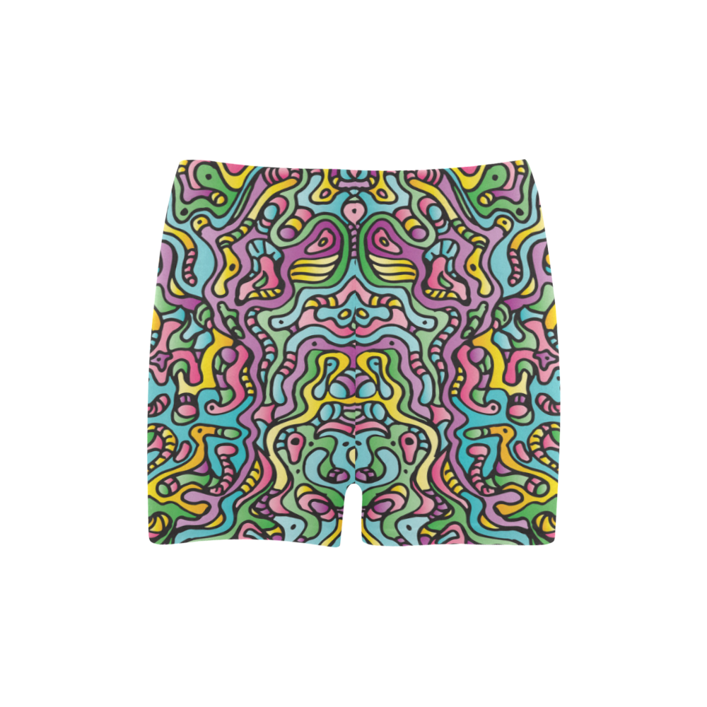 Colorful Tidal Pool, abstract animals, doodle Briseis Skinny Shorts (Model L04)