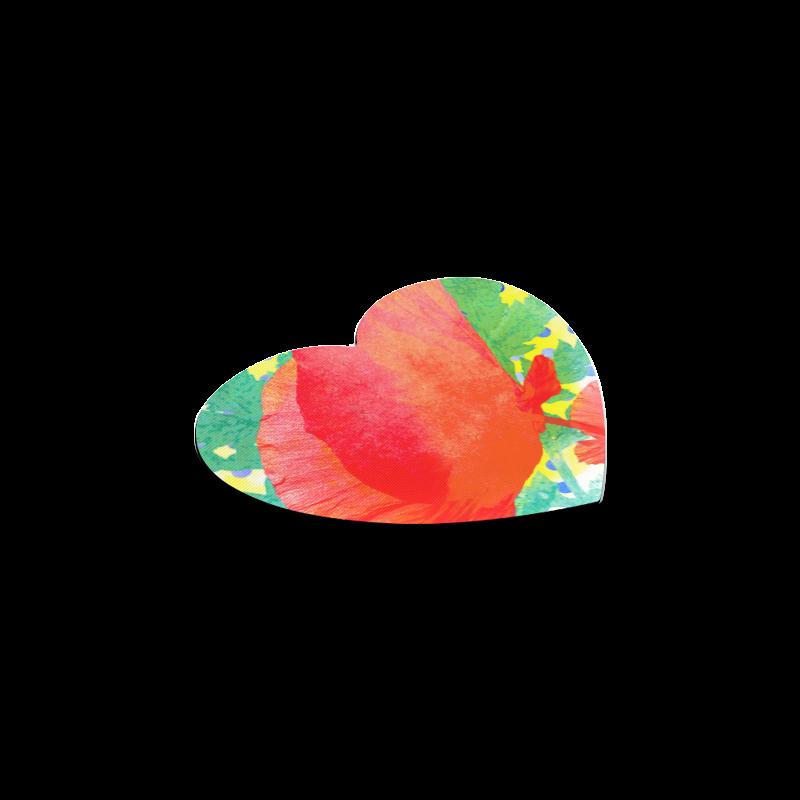 Poppy and Dots Heart Coaster
