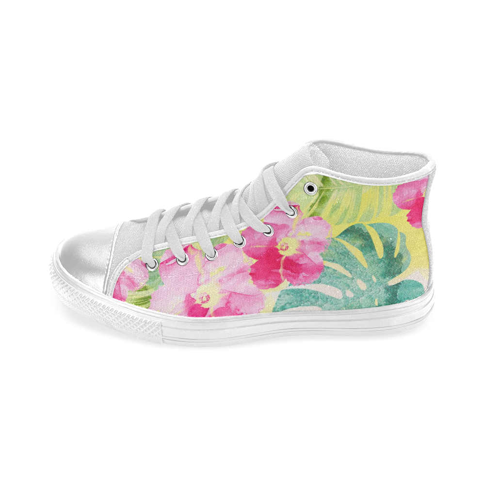 Tropical Dream Women's Classic High Top Canvas Shoes (Model 017)