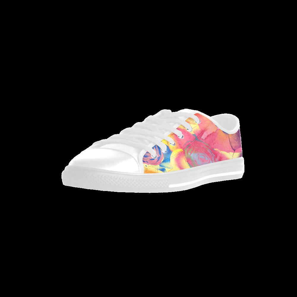 Roses Aquila Microfiber Leather Women's Shoes (Model 028)
