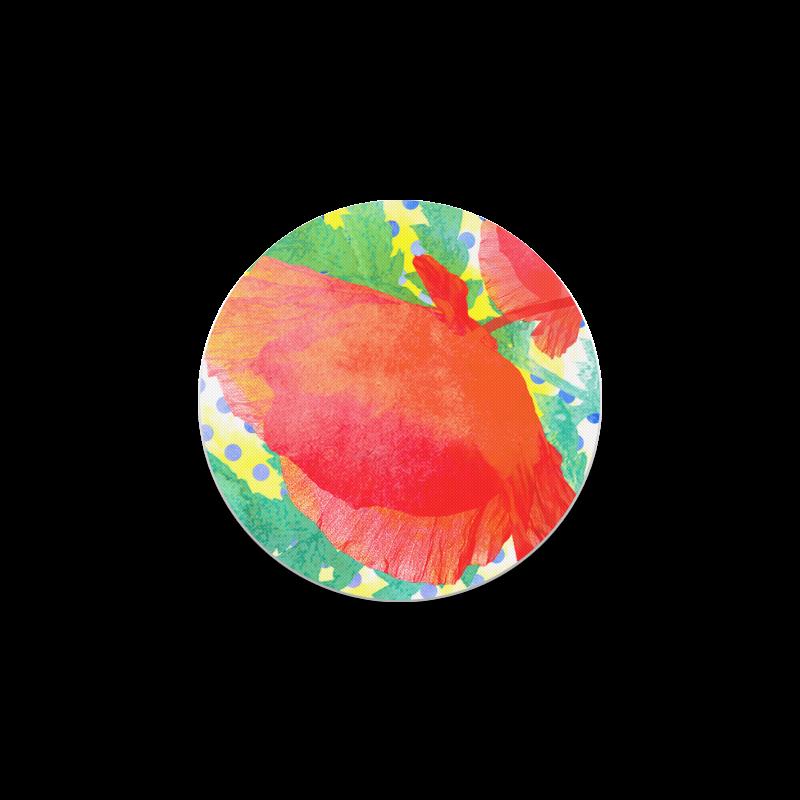 Poppy and Dots Round Coaster