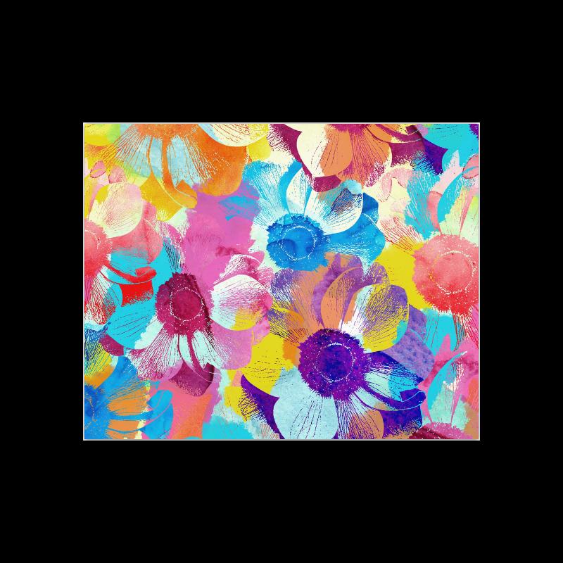 "Anemones Flower Poster 20""x16"""