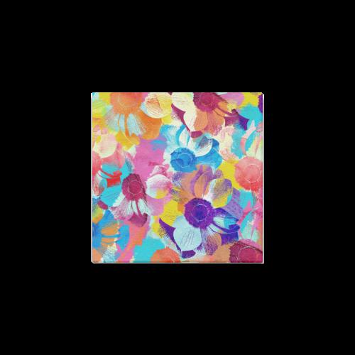 "Anemones Flower Canvas Print 6""x6"""