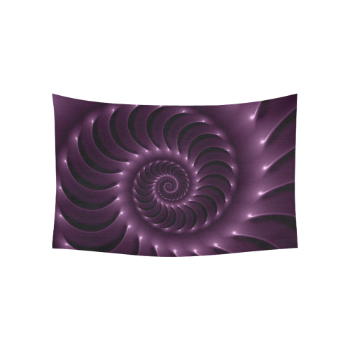 """Glossy Purple Spiral Fractal Cotton Linen Wall Tapestry 60""""x 40"""""""