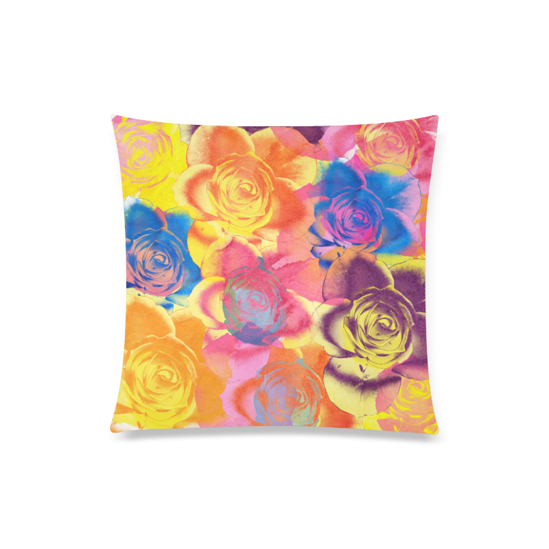 "Roses Custom Zippered Pillow Case 20""x20""(Twin Sides)"