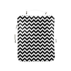 black and white zigzag chevron Square Backpack (Model 1618)