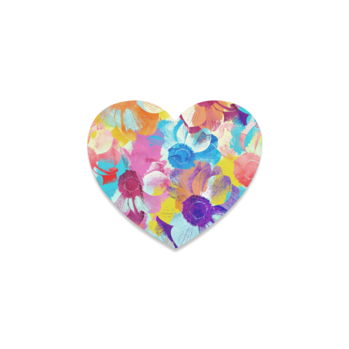 Anemones Flower Heart Coaster