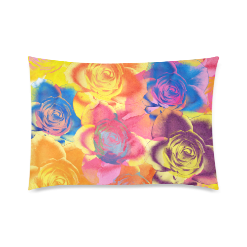 "Roses Custom Zippered Pillow Case 20""x30""(Twin Sides)"