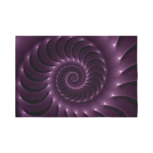 "Glossy Purple Spiral Fractal Cotton Linen Wall Tapestry 90""x 60"""