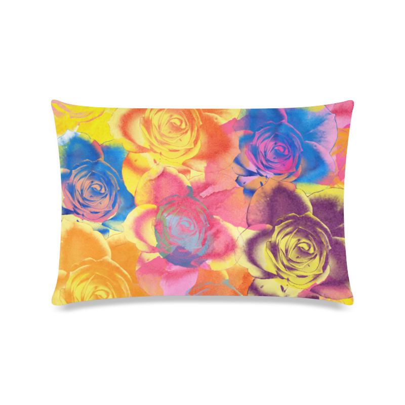 """Roses Custom Zippered Pillow Case 16""""x24""""(Twin Sides)"""