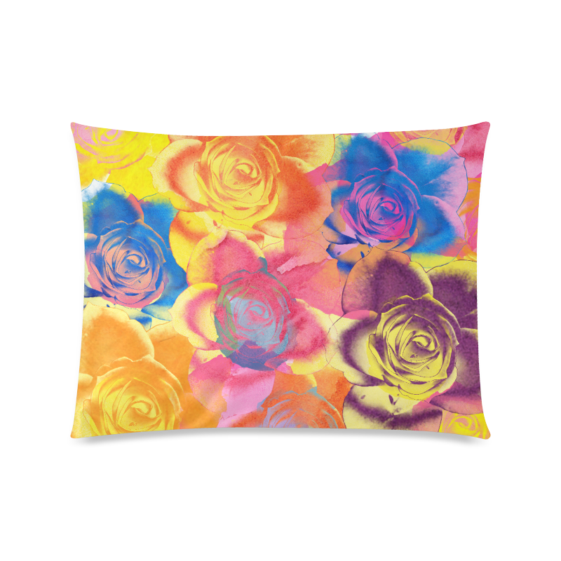 """Roses Custom Zippered Pillow Case 20""""x26""""(Twin Sides)"""