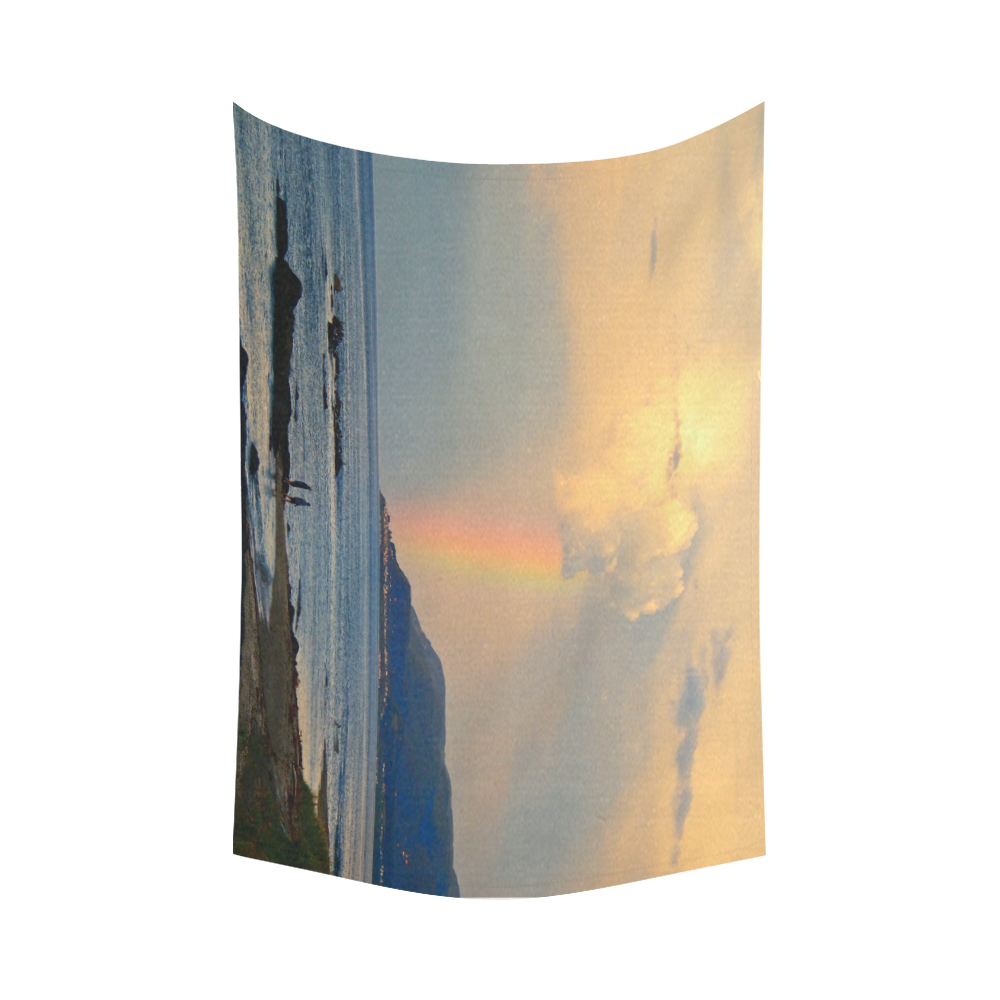 "Rainbow Walk Cotton Linen Wall Tapestry 90""x 60"""
