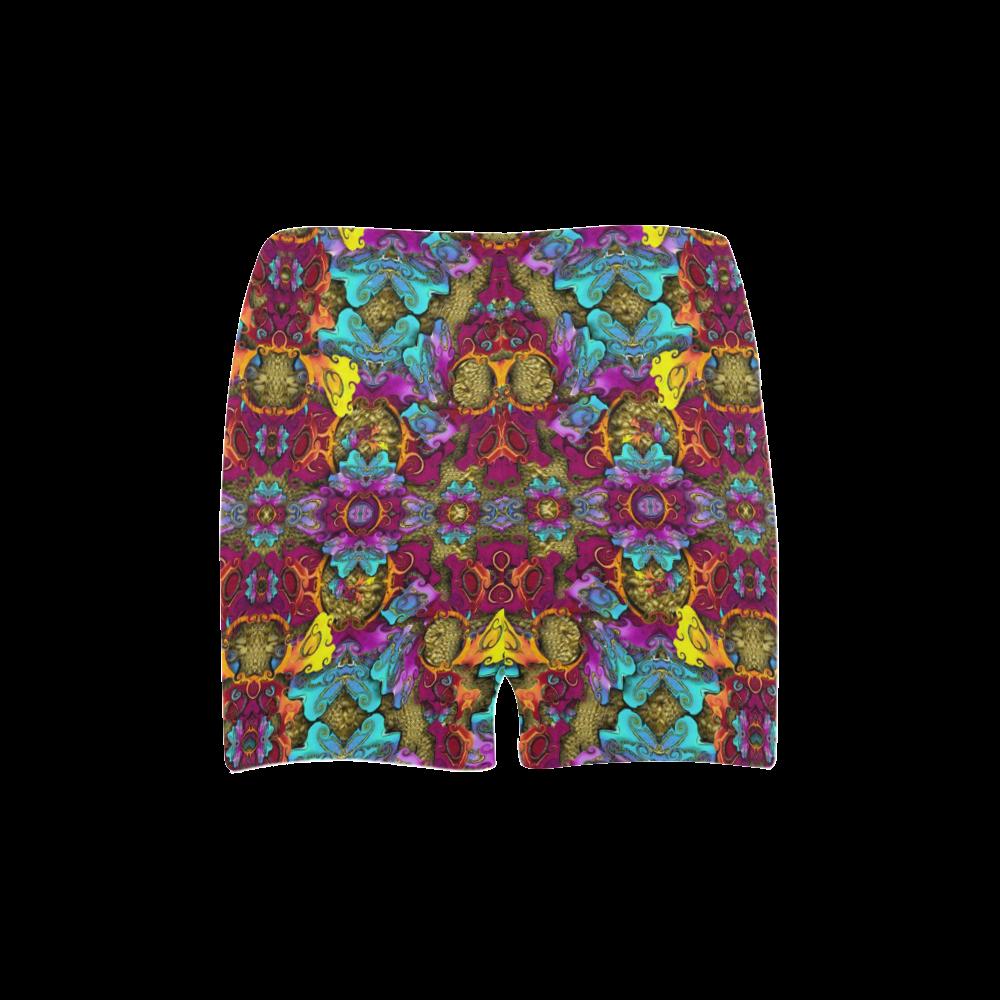 Fantasy rainbow flowers in a environment of calm Briseis Skinny Shorts (Model L04)
