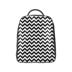 black and white zigzag chevron Popular Backpack (Model 1622)