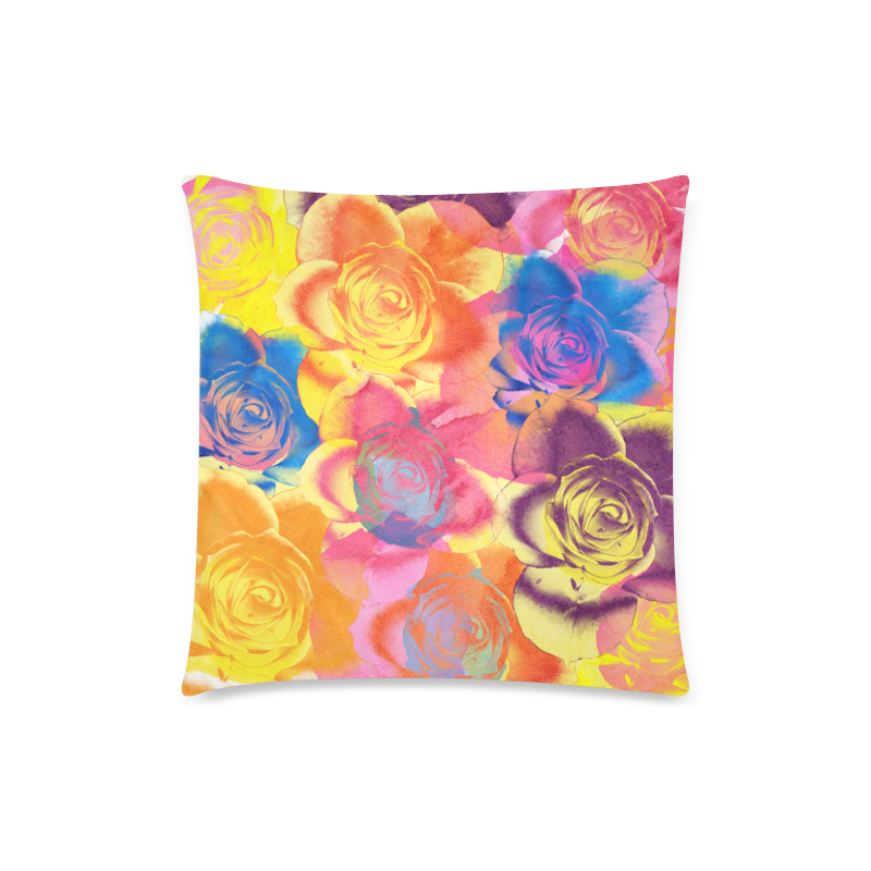 """Roses Custom Zippered Pillow Case 18""""x18""""(Twin Sides)"""