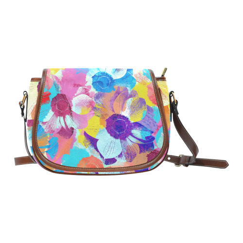 Anemones Flower Saddle Bag/Small (Model 1649) Full Customization