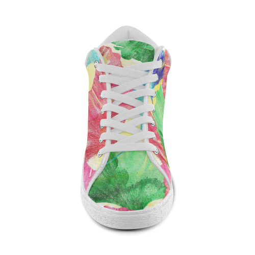 Ginkgo Leaves Women's Chukka Canvas Shoes (Model 003)