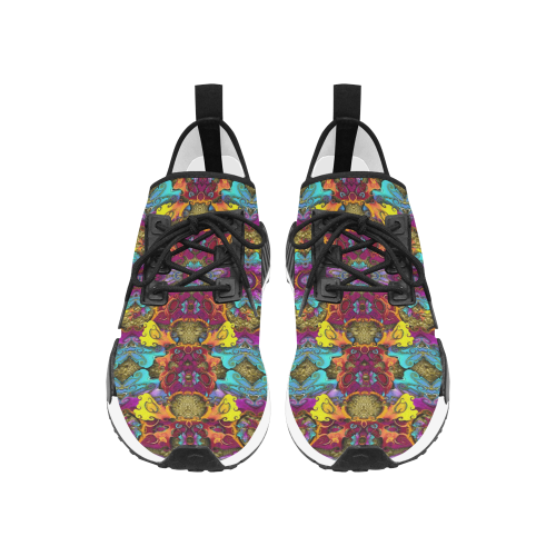 Fantasy rainbow flowers in a environment of calm Women's Draco Running Shoes (Model 025)