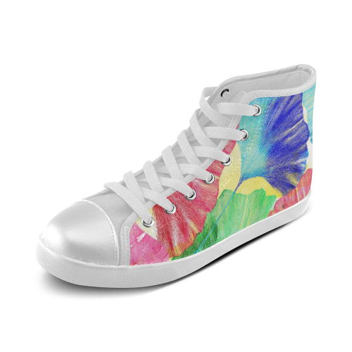 Ginkgo Leaves Women's High Top Canvas Shoes (Model 002)
