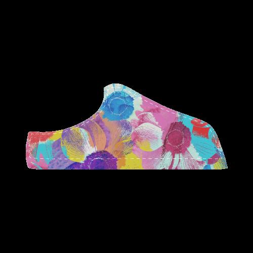 Anemones Flower Women's Chukka Canvas Shoes (Model 003)