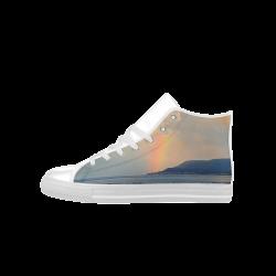 Rainbow Walk Aquila High Top Microfiber Leather Men's Shoes (Model 027)