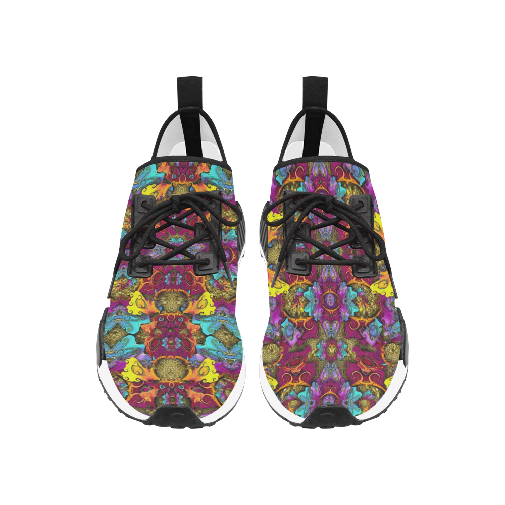 Fantasy rainbow flowers in a environment of calm Men's Draco Running Shoes (Model 025)