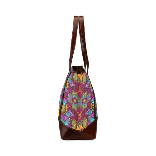 Fantasy rainbow flowers in a environment of calm Tote Handbag (Model 1642)