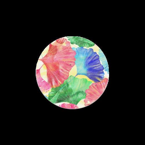 Ginkgo Leaves Round Coaster
