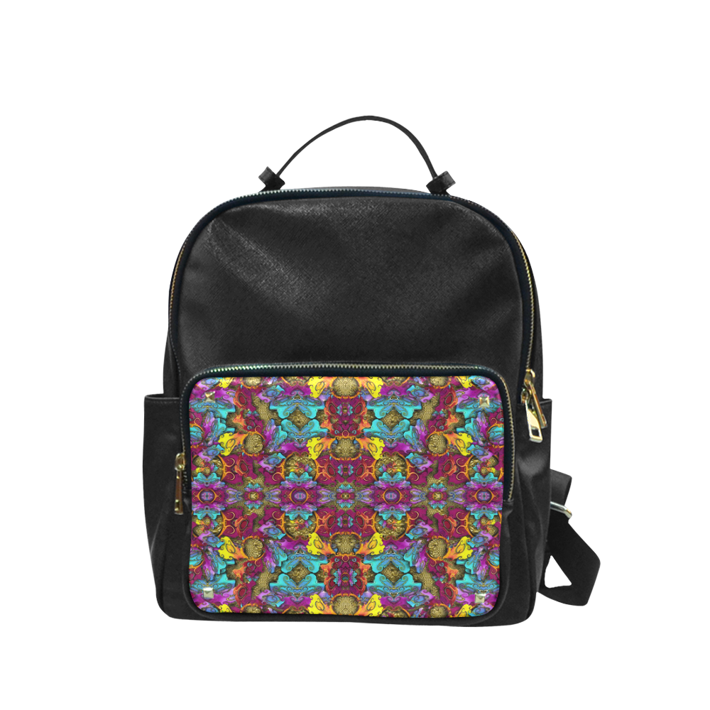 Fantasy rainbow flowers in a environment of calm Campus backpack/Large (Model 1650)