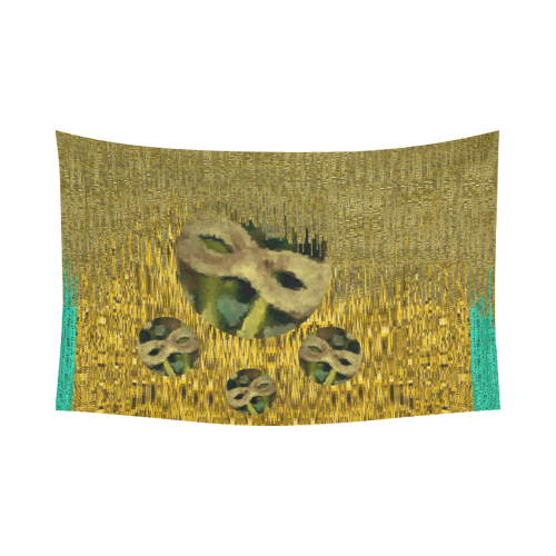 """masquerade Cotton Linen Wall Tapestry 90""""x 60"""""""