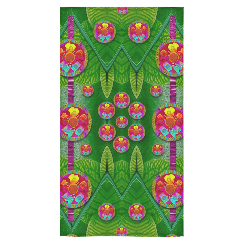 """Orchid Forest Filled of big flowers and chevron Bath Towel 30""""x56"""""""