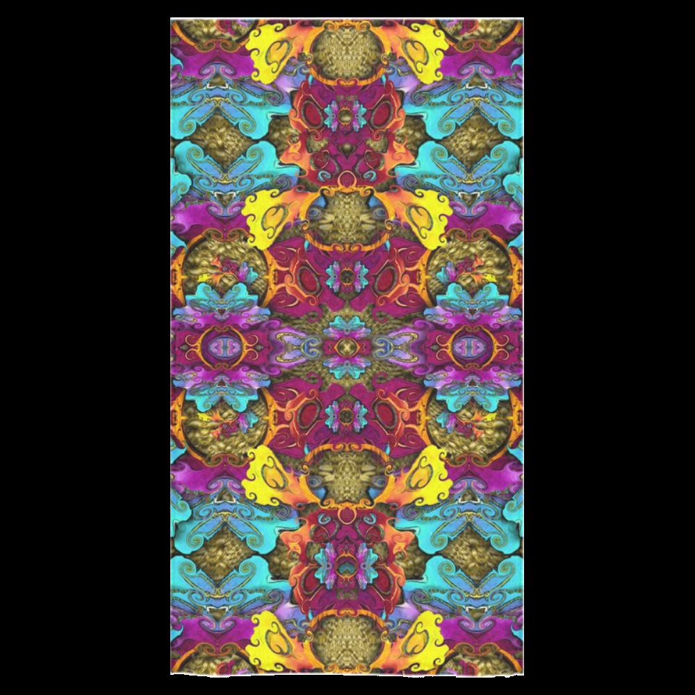 "Fantasy rainbow flowers in a environment of calm Bath Towel 30""x56"""