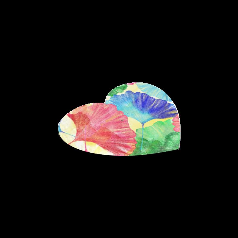 Ginkgo Leaves Heart Coaster