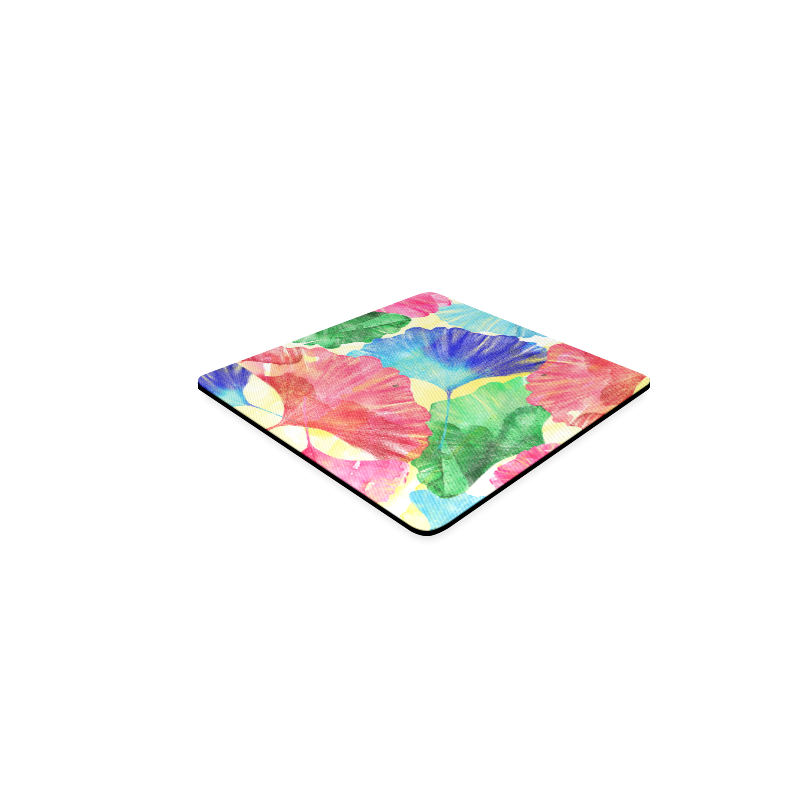 Ginkgo Leaves Square Coaster