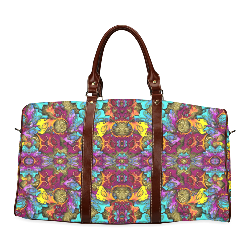 Fantasy rainbow flowers in a environment of calm Waterproof Travel Bag/Small (Model 1639)