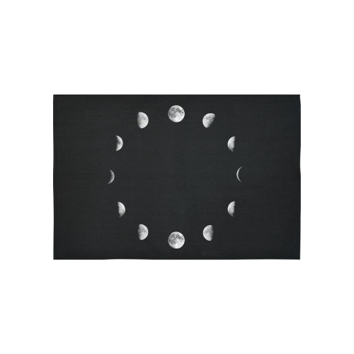 "Moon Phases Cotton Linen Wall Tapestry 60""x 40"""