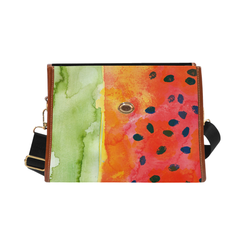 Abstract Watermelon Waterproof Canvas Bag/All Over Print (Model 1641)