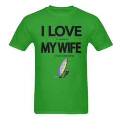 I Love it when my wife lets me go windsurfing Men's T-Shirt in USA Size (Two Sides Printing)