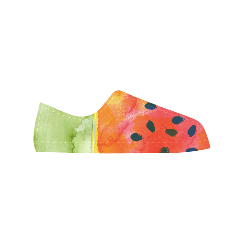 Abstract Watermelon Aquila Microfiber Leather Women's Shoes (Model 028)