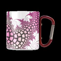 pink and black fractal Classic Insulated Mug(10.3OZ)
