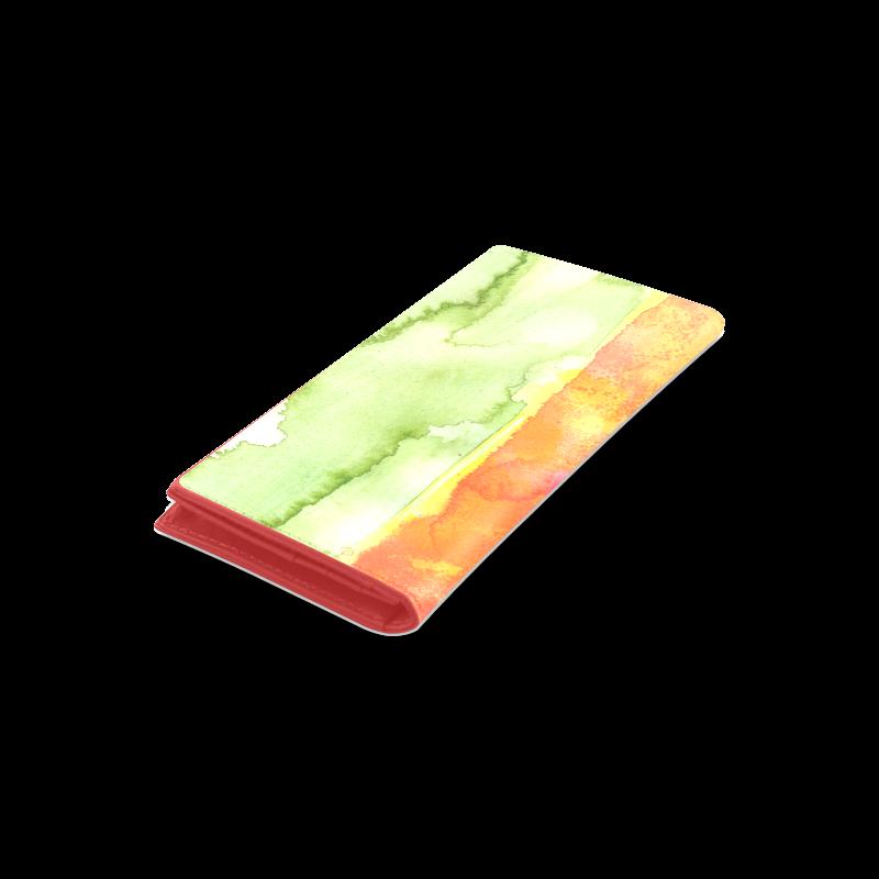 Abstract Watermelon Women's Leather Wallet (Model 1611)