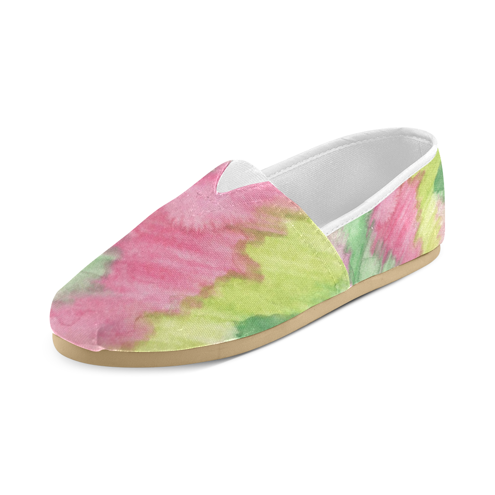 Floral Stained Glass Unisex Casual Shoes (Model 004)