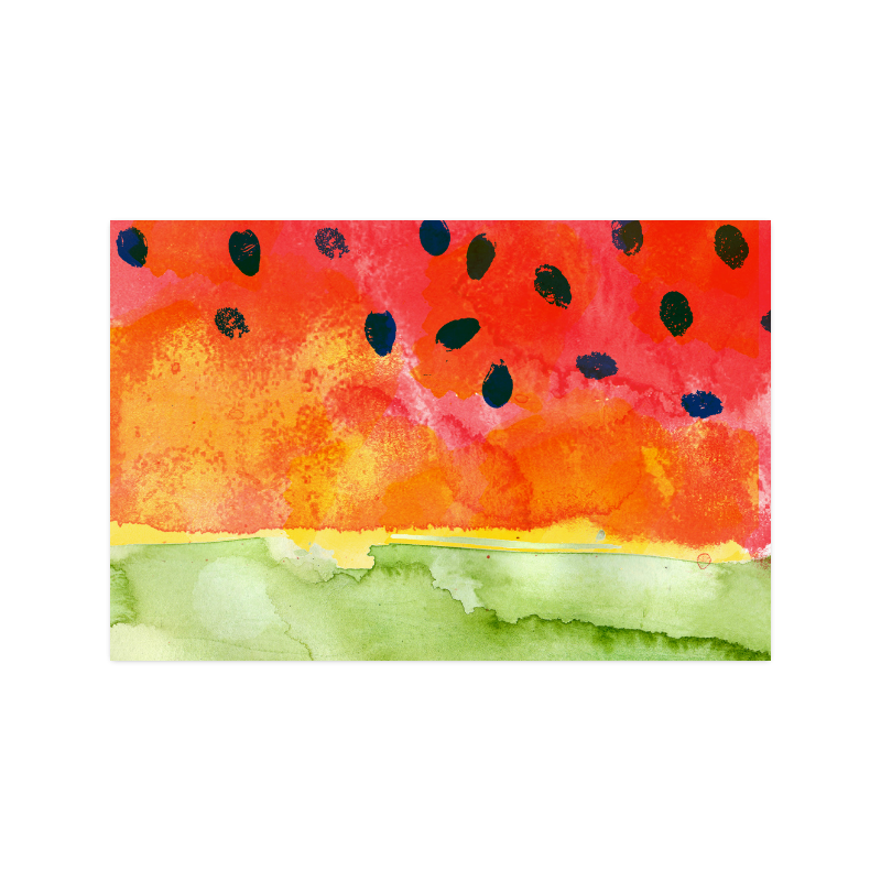 "Abstract Watermelon Poster 20""x30"""
