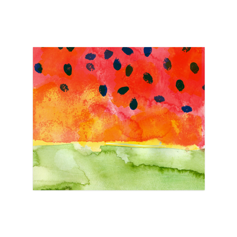 """Abstract Watermelon Poster 20""""x24"""""""