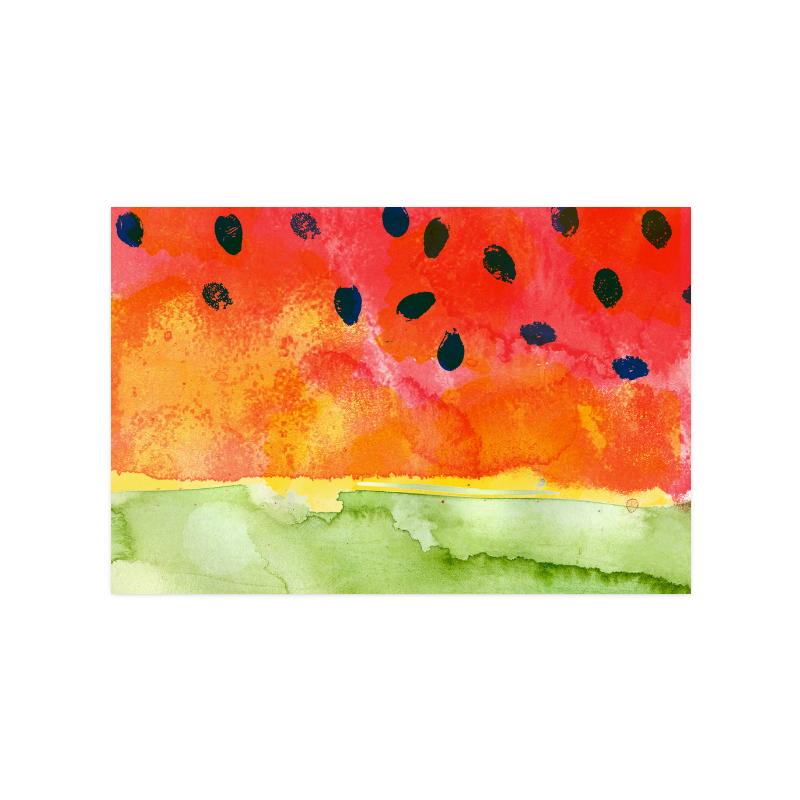 """Abstract Watermelon Poster 16""""x24"""""""